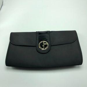 Giorgio Armani Perfumes Black Satin Clutch